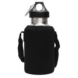 Nuova bottiglia della bevanda dell'acqua dell'acciaio inossidabile di grande volume 2L con il supporto del sacchetto della borsa che si accampa bollitore di sport della palestra della palestra di campeggio da