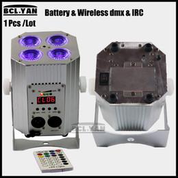 Wholesale led par lights cheap - New mini cheap price 4pcs 18w RGBWA UV 6 IN 1 Freedom led par Wireless DMX Remote battery powered Handle light for DJ
