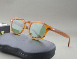 Caja de tortuga online-NUEVO estilo de moda marca gafas de sol johnny tortuga negro lino rojo claro marcos tamaño 3 lemtosh hombres mujeres depp gafas de sol con caja original