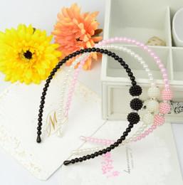Deutschland Neue Perle Diamant Kristall Haarband für Mädchen Nette elegante Kinder Mädchen Perle Haarbänder Kinder Prinzessin Perle mit Strass Haarschmuck Versorgung