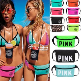 Wholesale outdoor clothing fabrics - Love Pink Letter Fanny Pack Women Waist Bags Beach Bag Women Girls Design Handbags Purses VS Travel Sports Outdoor Cosmetic Bags