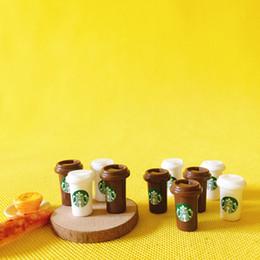 Wholesale coffee gardens - wholesale~10 pcs coffee cup doll house miniatures lovely cute fairy garden gnome moss terrarium decor bonsai figurine