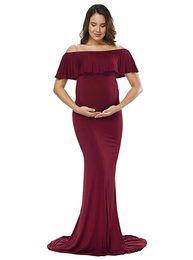 Wholesale long sleeve purple maxi dress - Maternity Dress Maternity Photography Props Sexy Maxi Dress Elegant Fancy Pregnancy Photo Shoot pregnant Women Long Dress Free Shipping