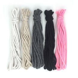 2017 Meilleur Vente Chaude 5mm Tressé Tressé Coton Cordon DIY Perles Corde Corde D'emballage Décoratif Craft Thread Bijoux Sacs ? partir de fabricateur