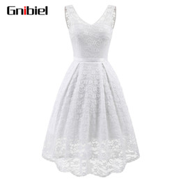 Wholesale women s pageant dresses - GNIBIEL Women Sleeveless Lace Bridesmaid Embroidered Chiffon Dress Long Party Pageant Wedding Bridal Formal Summer Dress Tuxedo