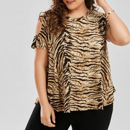 Wholesale maternity leopard print - Summer 2018 Leopard Printed T-Shirts For Pregnancy Women Casual Loose Short Sleeve Off Shoulder Maternity Tee Tops Plus Size