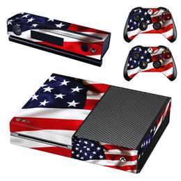 Xbox one controller vinil on-line-Decalque da pele do vinil moda para consola Xbox One e 2PCS Xbox um controlador Skins Stickers - América nação bandeira