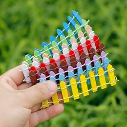 Wholesale mini fences - Cute 9 Colors Mini Fence Home Decor Kids Toys Christmas Gifts Novelty Items Toys for Adults Wedding Decorations