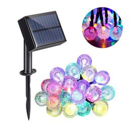 boules de cristal lumières de noël Promotion 5M 20LEDs 30LEDs Crystal Ball LED Chaîne Solaire / USB Power LED Chaîne Lumière Noël Vacances Étanche Décor Éclairage