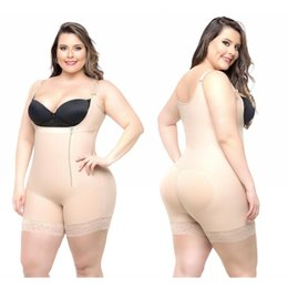 Più bodysuits online-2018 Cheap Plus Size Donne Body Shapers Shapewear Underbust Corsetto Vita Cincher Trainer Tute Sottile Butt Lifter Shapers CPA1122
