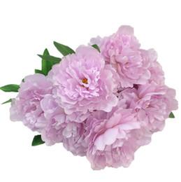 Canada 15 CM tête de pivoine artificielle pour la décoration en gros fleur en soie pivoine décor mural festival wed décoration en blanc bleu violet flush Offre