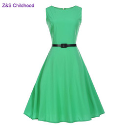 Wholesale Dresses Girl Age 12 - Solid 4 Colors Girls Dresses Teenage Girls Clothing 2017 Summer Children Clothing age 12 13 14 16 18 20 Years Vestidos Big Sizes
