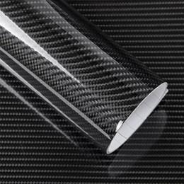 2019 audi a4 bmw 5D 12 Colores de Fibra de Carbono Vinilo Wrap Película Etiqueta Engomada Del Coche Brillante motocicleta camión Wrap Roll Impermeable Auto Decoración Accesorios Negro 50 * 200 cm