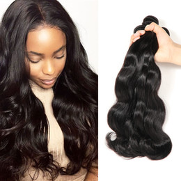 Wholesale Curly Ombre Hair - Brazilian Straight Human Hair Bundles Body Wave Deep Wave Kinky Curly Hair Weft Peruvian Indian Malaysian Unprocessed Human Hair Extensions