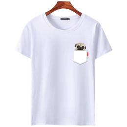 Wholesale 3xl dog clothing - New Fashion Short Sleeve T-shirt Men print t shirt O-neck comic dog shirts tops men clothes Tee