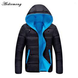 Wholesale Men Classic Hooded Jacket Hoodie - 2017 Winter Parka Men Jacket Men Women Light Weight Classic Hooded Cotton Coat Homme Winter Thick Hoodie Parkas Warm Outwear