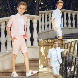 Argentina 2018 Summer Three Pieces Boys Clothes Guapo por encargo Boys Trajes formales Niños Traje formal con envío gratuito Suministro