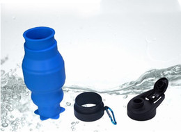 Wholesale Sports Products Wholesalers - Creative new product outdoor sports water bottle portable silicone bottle travel fitness cup.