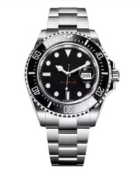 Wholesale sea dwellers - New RED SEA-DWELLER 43mm Mens Watch Automatic Movement Sweep Mechanical Ceramic Bezel Original Clasp AAA Quality