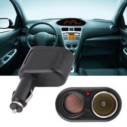 12v dc toma de corriente de coche online-12V DC Dual USB Car Charger Cigar Cigarette Lighter Doble Power Socket Splitter Universal Kit del coche DDA367