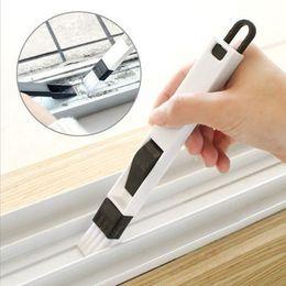 Portes de clavier en Ligne-Brosse de nettoyage polyvalente pour portes et fenêtres Creative avec un porte-poussière et une fente pour pinceau