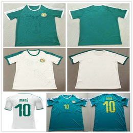 Wholesale Customized Name - 2018 World Cup Senegal Jerseys 10 MANE Blank Customized Any Name Home Green White Custom Soccer Football camiseta de futbol Shirt Uniform