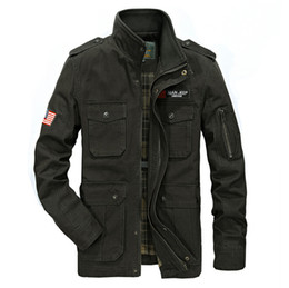 Wholesale slim military jacket men - Stand Collar Male Jackets Brand New Military Letter Embroidery Outerwear Coat Men Clothing Winter Jackets Size 3XL