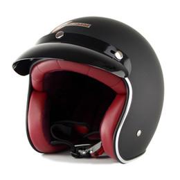 Wholesale helmet motorcycle sale - Hot sale T50 Route 66 Motorcycle helmet jet Vintage helmet Open face 3 4 half helmet casco moto capacete motociclismo 12