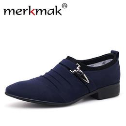 2019 новый стиль офис повседневная обувь Merkmak Plus Size 38-48 Men Dress Shoes Classic Business Office Oxford Shoes For Men 2018 New Casual British Style Man Flats дешево новый стиль офис повседневная обувь