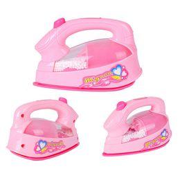 2019 spielzeug haus licht Mini Baby Mädchen Pretend Play Spielzeug Bügeleisen Kunststoff Light-up Simulation Kinder Kinder Spielhaus Spielzeug rabatt spielzeug haus licht