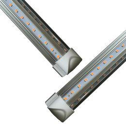 Lampe de lumière à tube led intégrée en Ligne-Porte de refroidisseur LED Tube en V 8FT Lumières 4FT 5FT 6FT 8 pieds LED T8 52W 72W Lampe fluorescente intégrée double face