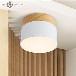 iSL Foco de techo LED para lámparas de techo Accesorios de iluminación guirnalda led 5W Proyector de downlight de madera moderna luz viva de madera desde fabricantes