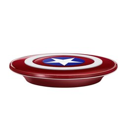 Wholesale Custom Shipping Boxes Wholesale - 2018 New Avengers Cpatain American Qi wireless Charger Pad for Samsung Galaxy S7 S6 Edge iPhone X 8 Free Shipping with Retail Box