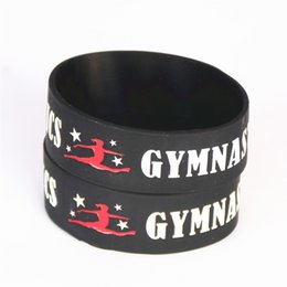 "fitness christmas gifts Coupons - 1PC Silicone Dancer Wristbands 1"" Wide Gymnastics Sport Silicone Bracelet Fitness Bangles Wristband Gift Armband SH096"