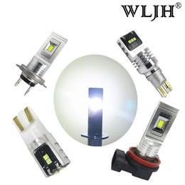 Wholesale led car day lights - WLJH 1500LM Auto Car Light Led H7 H8 H11 H1 H3 T10 W3W T15 Light Fog Lamp Bulb Day Running LED DRL Light