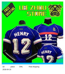 66ab49213 1998 FRANCE home jersey 98 Thailand Quality retro RETRO VINTAGE ZIDANE  10  HENRY  12 MAILLOT DE FOOT uniforms Football Jerseys shirt