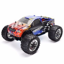 Wholesale rc nitro road car - wholesale Rc Truck 1 10 Scale Models Nitro Gas Power Off Road Monster Truck 94188 4wd High Speed Hobby Remote Control Car