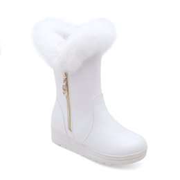 boot blacking factory Promo Codes - 3 colors new free shipping wholesale model outsole low heel shoes factory price long fashion girl snow boots women fleece footwear