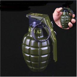 Wholesale Inflatable Ornament - Creative personality model of large metal lighter grenade grenade ornaments gift pendant inflatable lighter