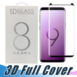 Wholesale Package Glass - Case Friendly 3D Curved Tempered Glass Protector For Samsung Note 8 S6 S7 edge S8 S9 Plus Full Surface Screen Cover Film With Package