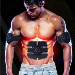 Wholesale Body Burn Fat - Abdominal Muscle Toner Trainer Toning Belt, Abs Trainer Wireless Body Gym Belt Massager Pad Workout Home Office Fitness Equipment