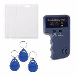 2019 controle de acesso da porta do cartão inteligente Freeshipping 7 Pcs Durable Handheld RFID 125 KHz EM4100 EM410X ID Card Copiadora + 3 Pcs Etiquetas Graváveis Keyfobs + 3 Pcs Gravável Cartões