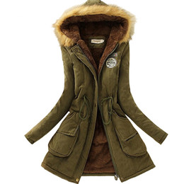 Wholesale womens winter black down jacket - Wholesale- 2017 New Parkas Female Women Winter Coat Thickening Cotton Winter Jacket Womens Outwear Parkas for Women Winter