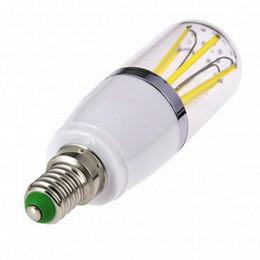 Wholesale Led E14 8w Corn - e27 E14 B22 led 3W 4W 6w cob filament AC DC 12V lamp dimmable bulb 110V 220V bulb led lamp filament housing cob corn blub