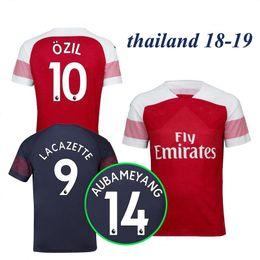 a0148456217 Thaiiland 18 19 Arsenal soccer jersey 2018 2019 LACAZETTE MKHITARYAN XHAKA  RAMSEY IWOBI OZIL AUBAMEYANG home away navy football shirts Kits