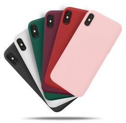Las cajas baratas al por mayor del teléfono celular de Shell mate cáscara suave del tpu para iphone678X tienen 6 color Shell de protección del teléfono del boutique 069 desde fabricantes