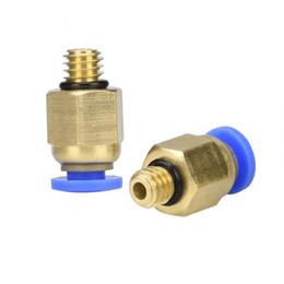 Пневматические соединители онлайн-10 шт. PC4-M5 пневматический прямой разъем латунная часть для MK8 OD трубки нити M6 муфта 3D принтеры XXM8