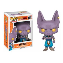 Wholesale action figure dragon ball z - Funko Pop! Anime Dragon Ball Z Beerus Vinyl Action Figure with Box #120 Toy Gift Good Quality