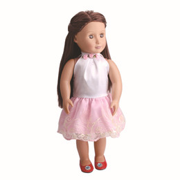 Wholesale american girl dolls clothes - 2018 New Handmand Princess Dress Doll Clothes For 18inch Dolls American Girl Doll Clothes Fashion American Girl Doll Dress
