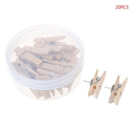 Lavanderia clip on-line-20 pcs prendedores de roupa de madeira pinos de roupa de madeira de lavanderia recados foto Paper Peg DIY Craft Craft prático